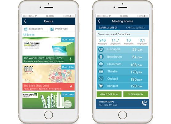 ADNEC App Screens