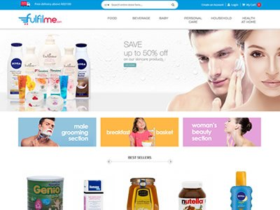 Fulfilme e-commerce healthcare products website, Dubai, UAE, www.fulfilme.com